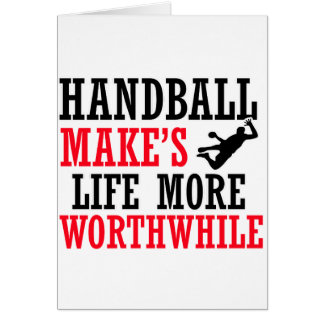 conception fraîche de handball carte de vœux
