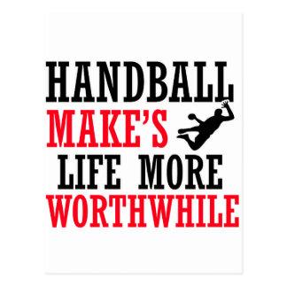 conception fraîche de handball cartes postales