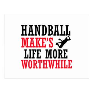 conception fraîche de handball carte postale