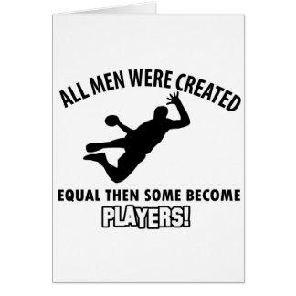 conception fraîche de joueur de handball carte