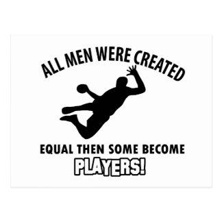 conception fraîche de joueur de handball cartes postales