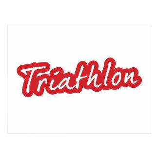 Conception fraîche de triathlon cartes postales