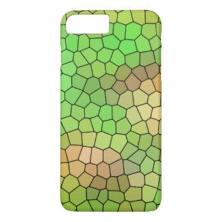 Conception fraîche en verre souillé de vert coque iPhone 7 plus