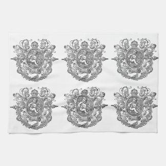Conception française vintage d'ange de typographie serviettes pour les mains