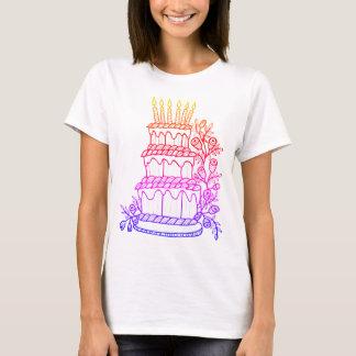 Conception gâteau de couche de schéma t-shirt