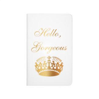 Conception girly de luxe chic de citation d'or carnet de poche