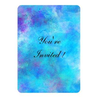 Conception glaciale d'abrégé sur bleu carton d'invitation  12,7 cm x 17,78 cm