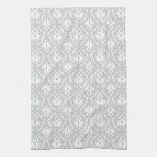 Conception grise blanche et en pastel de damassé serviette éponge
