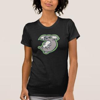 Conception grise de détente de dessin de vert de t-shirt