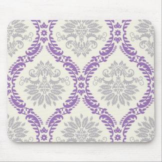 conception grise et crème pourpre majestueuse de d tapis de souris