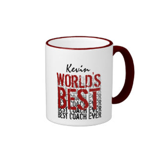 Conception grunge moderne du meilleur entraîneur d mugs