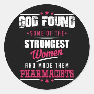 Conception hilare de profession de pharmaciens sticker rond