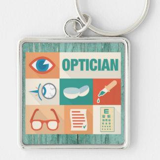 Conception iconique d'opticien professionnel porte-clés