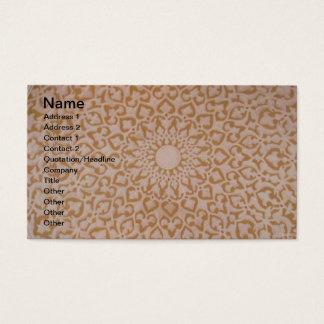 Conception islamique de tabouret complexe. Motif Cartes De Visite