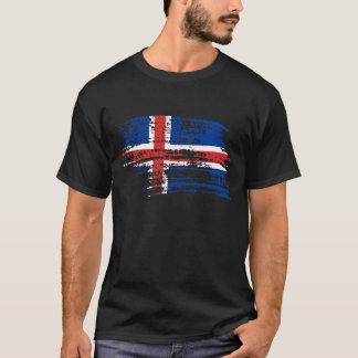 Conception islandaise fraîche de drapeau t-shirt