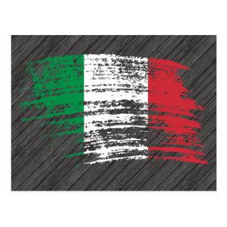 Conception italienne fraîche de drapeau cartes postales