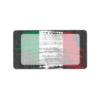 Conception italienne fraîche de drapeau étiquette d'adresse