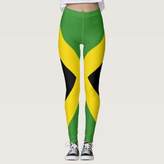 Conception jamaïcaine de drapeau partout leggings