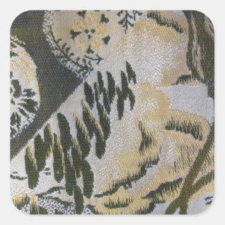 Conception japonaise de Sash de tissu Sticker Carré