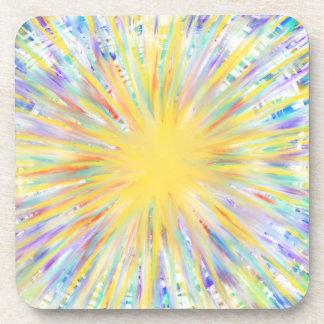 Conception jaune colorée d'art abstrait de dessous-de-verre