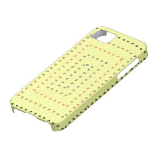 Conception jaune d'art coque barely there iPhone 5