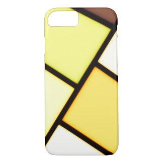 Conception jaune d'art coque iPhone 7