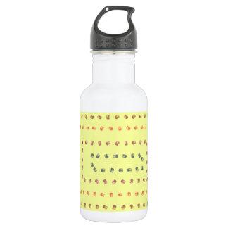 Conception jaune d'impression bouteille d'eau
