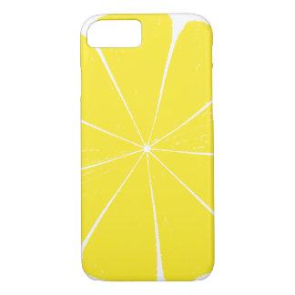 Conception jaune lumineuse de tranche d'agrumes de coque iPhone 7