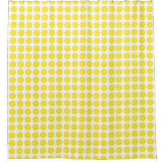 Conception jaune lumineuse de tranche d'agrumes de rideaux de douche