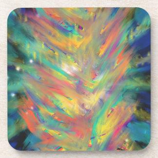 Conception jaune-orange d'art abstrait de flammes dessous-de-verre