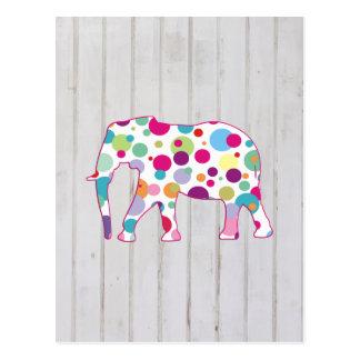 Conception lunatique d'éléphant de pois carte postale