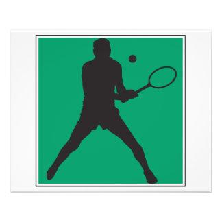 conception masculine de silhouette de joueur de te prospectus 11,4 cm x 14,2 cm