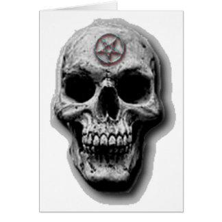 Conception mauvaise satanique de crâne carte de vœux