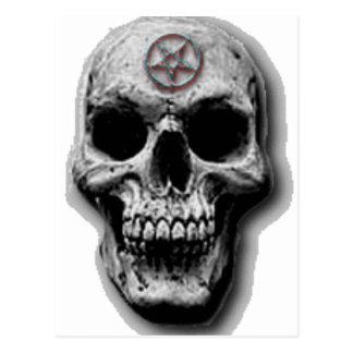 Conception mauvaise satanique de crâne carte postale