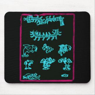 Conception maya bleue fraîche tapis de souris