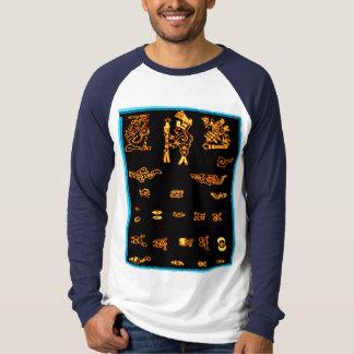 Conception maya d'or frais t-shirt