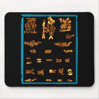 Conception maya d'or frais tapis de souris