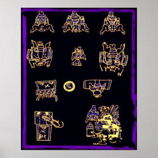 Conception maya fraîche affiche