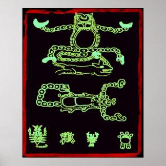 Conception maya verte fraîche posters