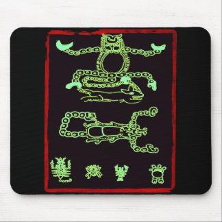 Conception maya verte fraîche tapis de souris