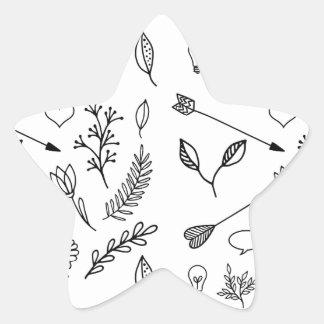 Conception mignonne de bande dessinée sur le blanc sticker étoile