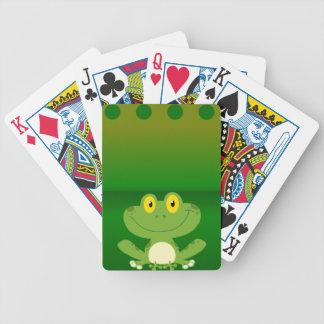 Conception mignonne de grenouille cartes à jouer