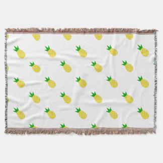 Conception moderne d'ananas couvre pied de lit