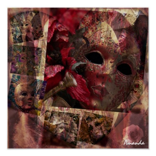 Conception moderne de masques posters