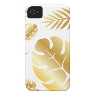 Conception moderne élégante de motif de feuille coque iPhone 4