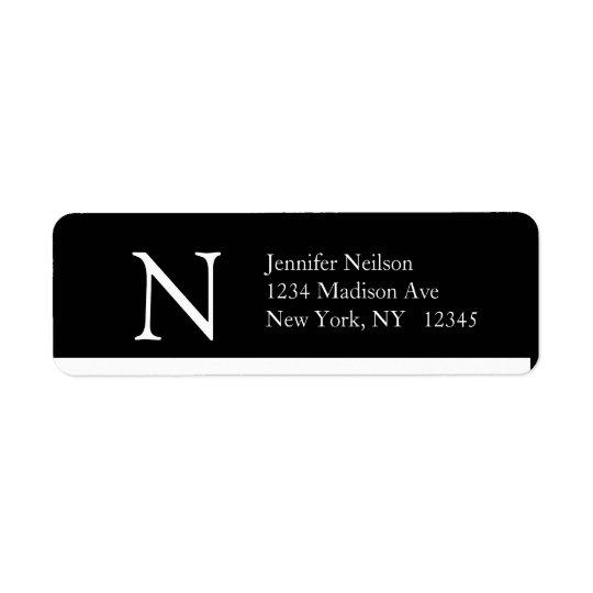 Conception moderne simple du monogramme N d'étique Étiquettes D'adresse Retour