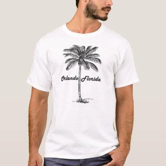 Conception noire et blanche d'Orlando et de paume T-shirt