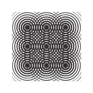 conception noire et blanche géométrique abstraite toiles