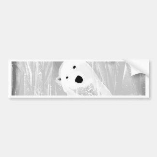 Conception noire et blanche unique d'ours blanc autocollant de voiture
