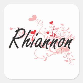 Conception nommée artistique de Rhiannon avec des Sticker Carré